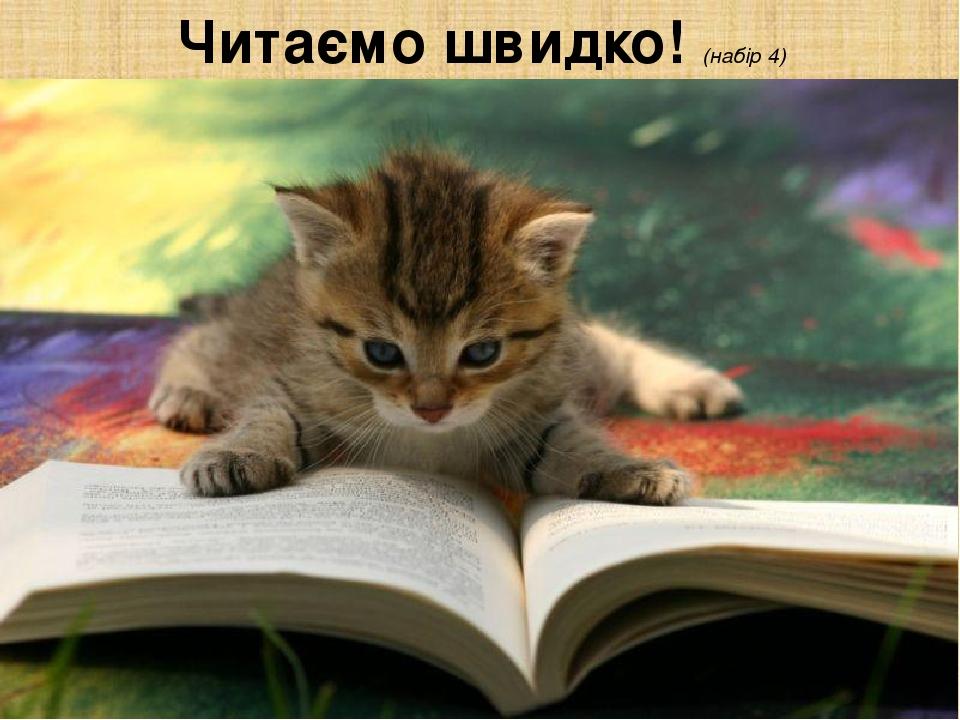 Читаємо швидко! (набір 4)