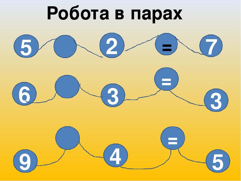 5 2 7 6 3 = 3 = 4 9 5 Робота в парах =