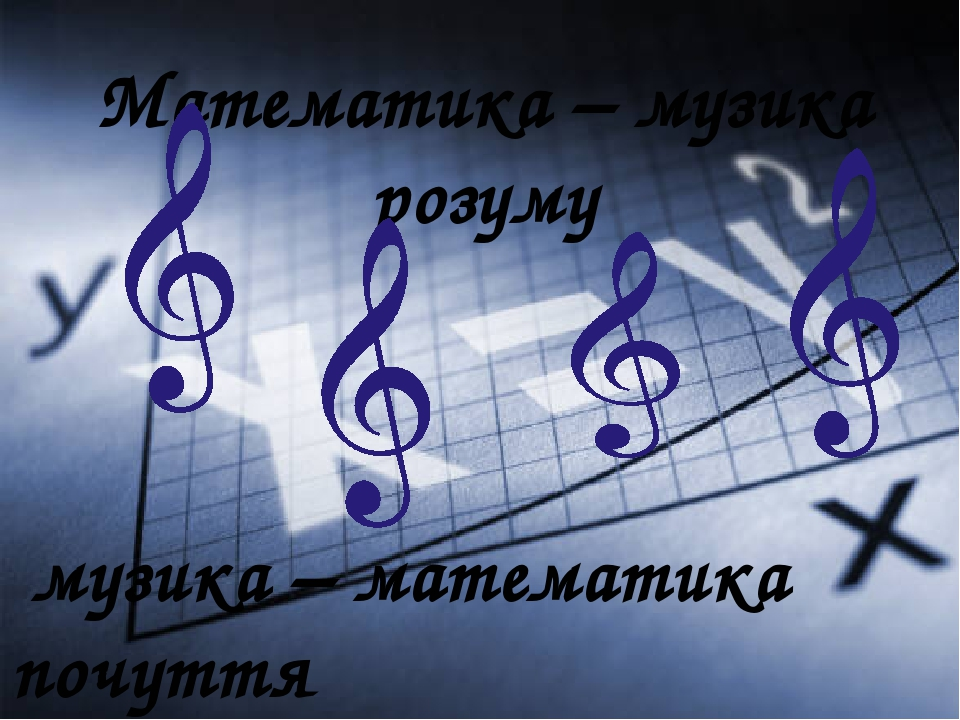 музика – математика почуття Математика – музика розуму