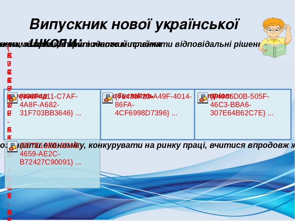 Випускник нової української школи: