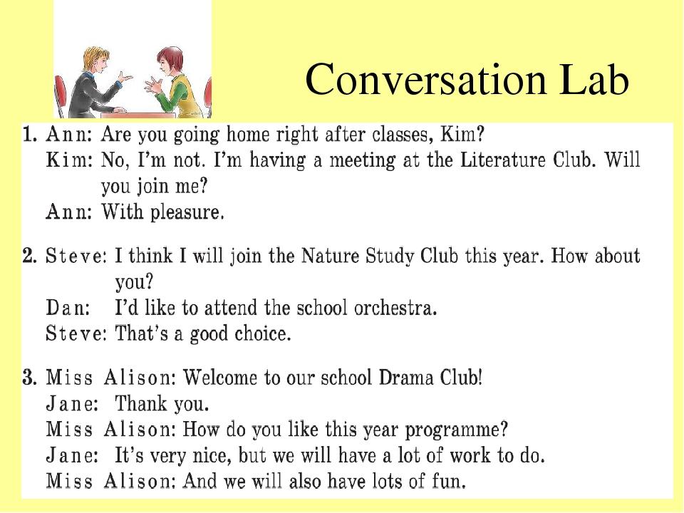 Conversation Lab