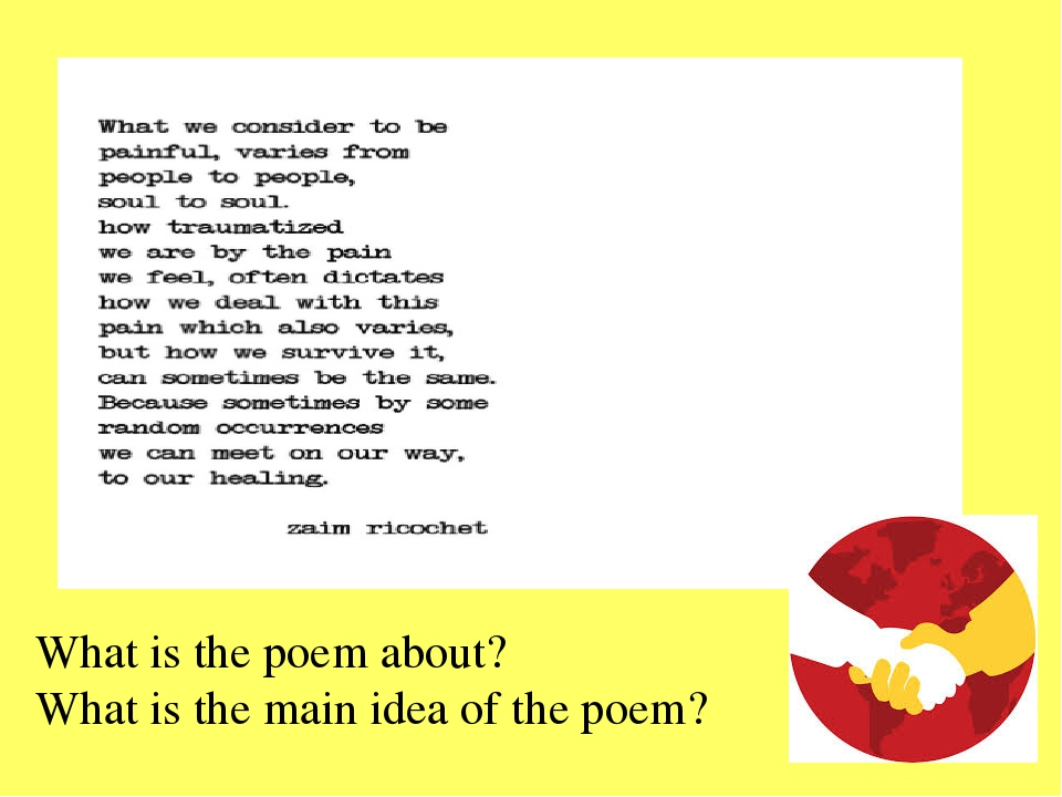What is the poem about? What is the main idea of the poem?