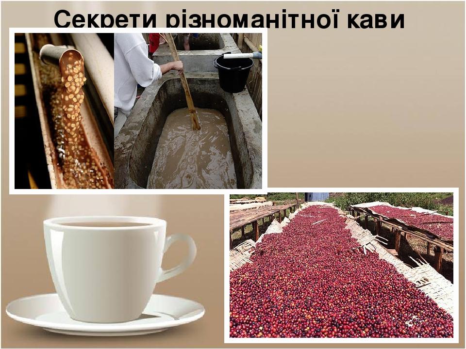 Секрети різноманітної кави