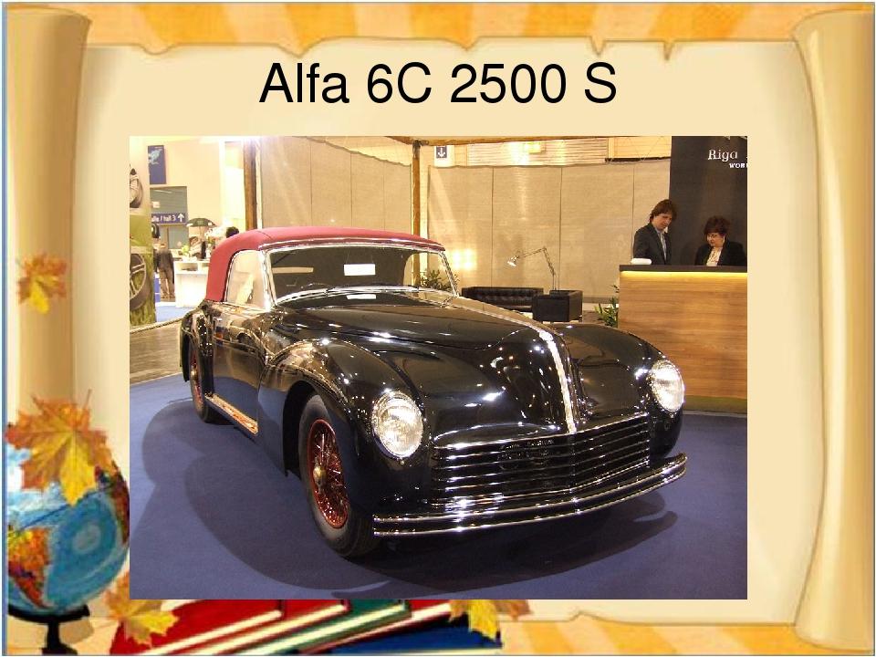 Alfa 6C 2500 S