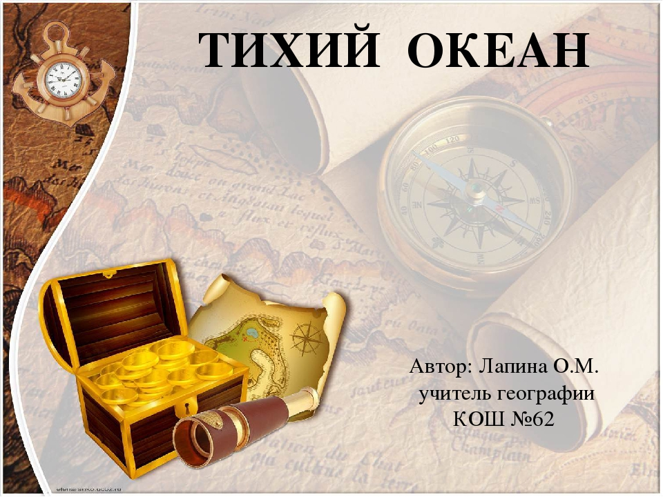 ТИХИЙ ОКЕАН Автор: Лапина О.М. учитель географии КОШ №62