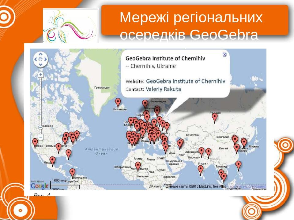 Мережі регіональних осередків GeoGebra