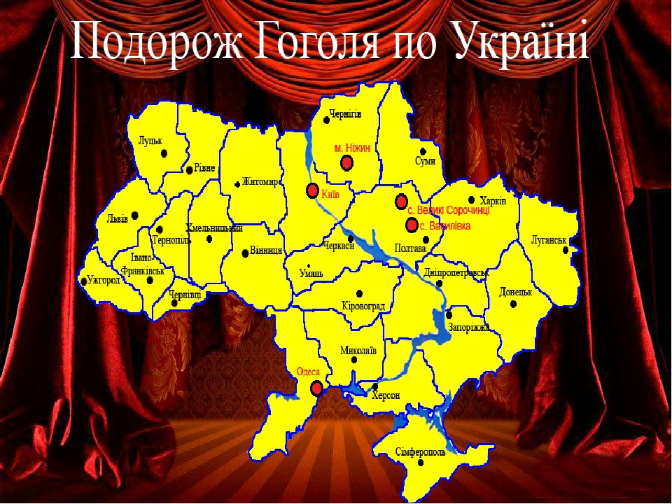Подорож М.В. Гоголя по Україні