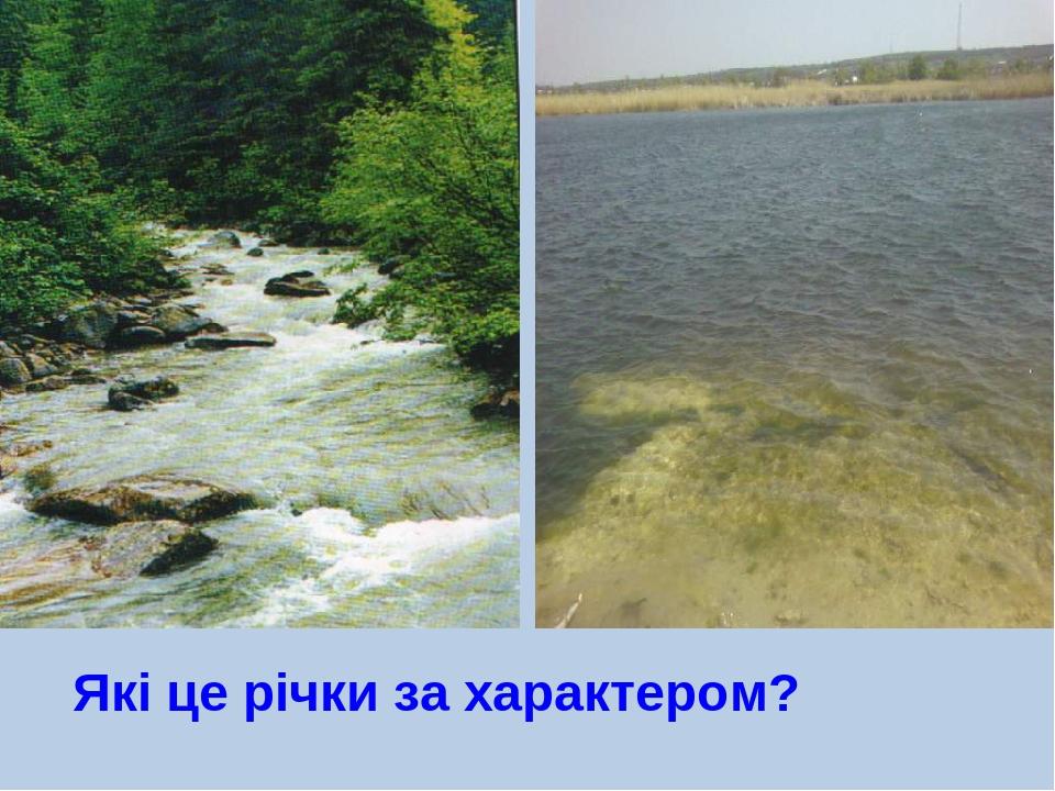 Які це річки за характером?