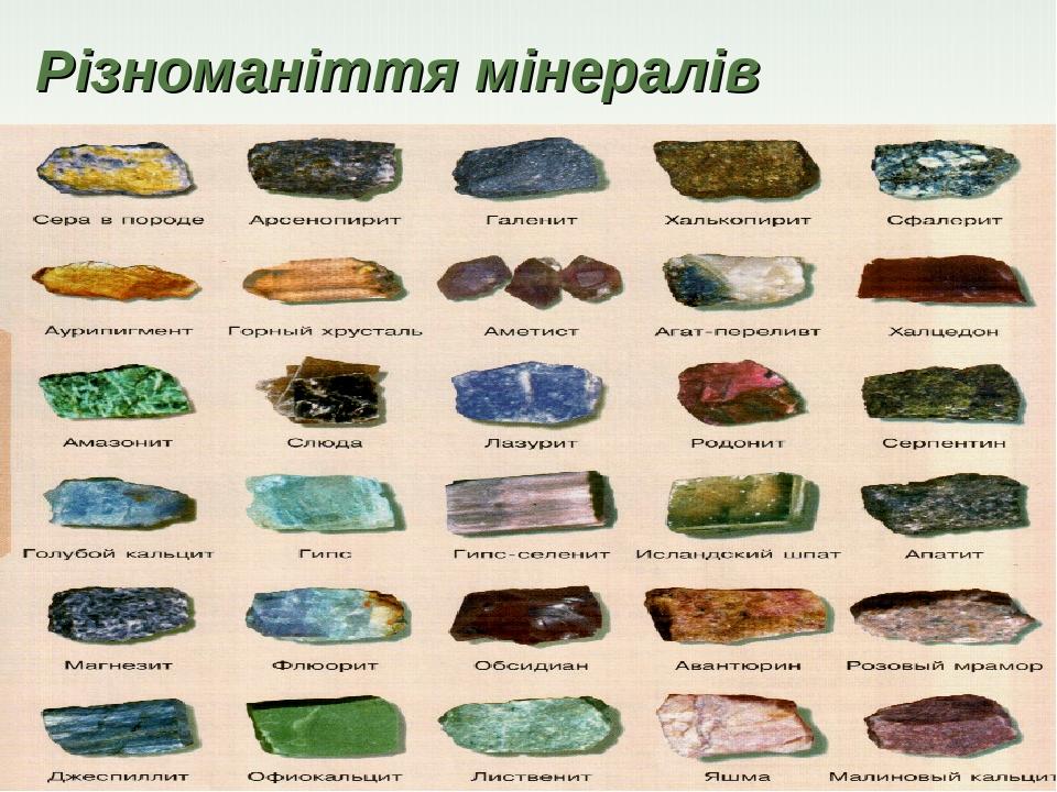 Різноманіття мінералів