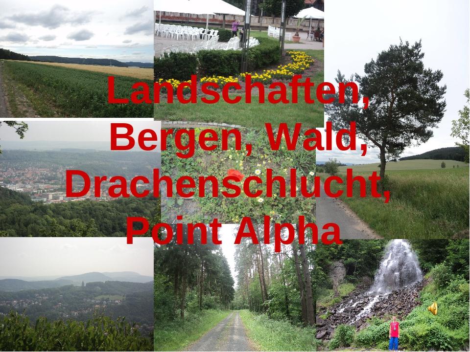 Landschaften, Bergen, Wald, Drachenschlucht, Point Alpha
