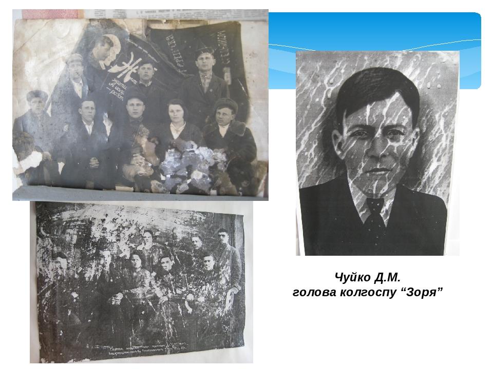 """Чуйко Д.М. голова колгоспу """"Зоря"""""""
