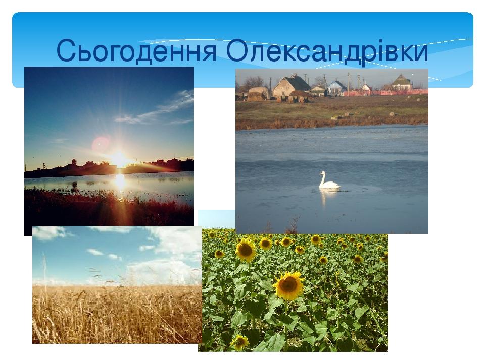 Сьогодення Олександрівки