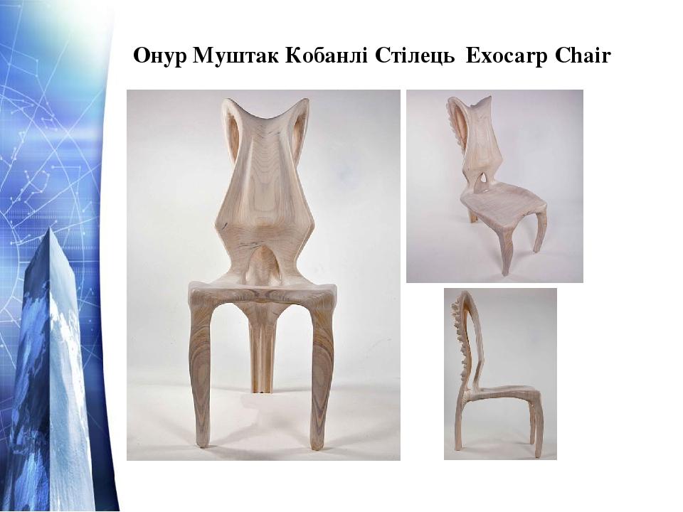 Онур Муштак Кобанлі Стілець Exocarp Chair