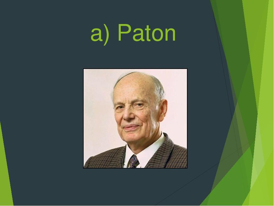 a) Paton