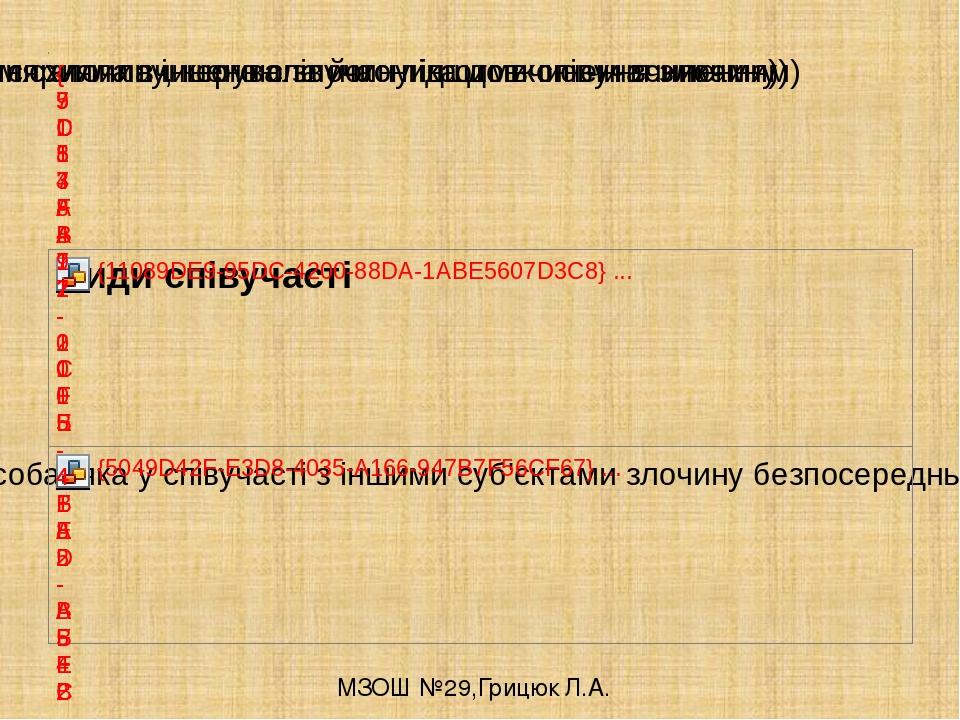 МЗОШ №29,Грицюк Л.А.