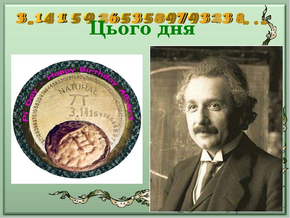 Цього дня народився Альберт Ейнштейн, лауреат Нобелівської премії, видатний вчений фізик