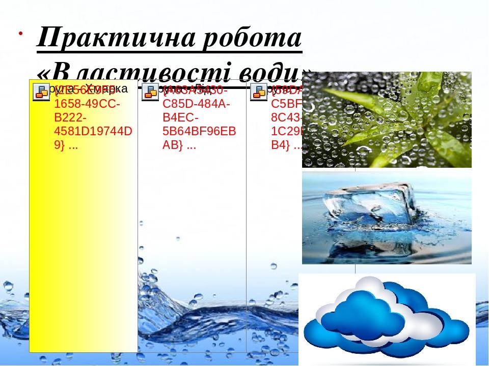 Практична робота «Властивості води» Page