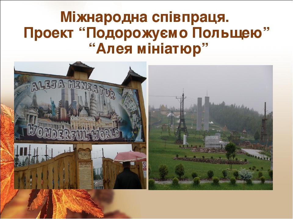 """Міжнародна співпраця. Проект """"Подорожуємо Польщею"""" """"Алея мініатюр"""""""