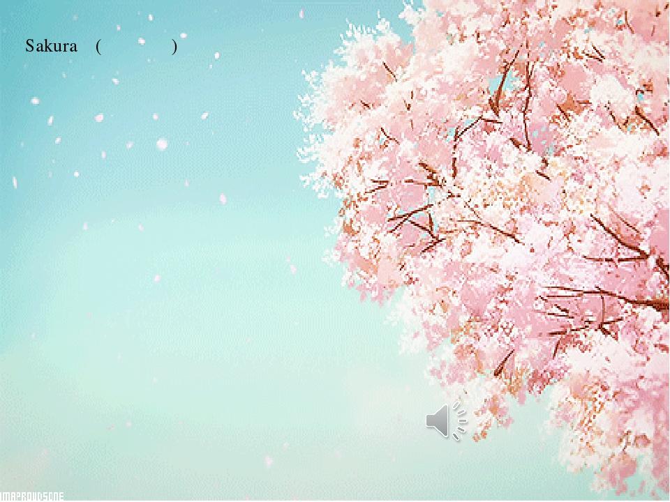 Sakura (さくら さくら) 桜 桜 野山も里も 見渡す限り 霞か雲か 朝日に匂う 桜 桜 花ざかり  桜 桜 弥生の空は 見渡す限り 霞か雲か 匂いぞ 出ずる いざ...