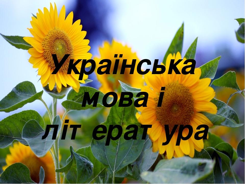 Українська мова і література