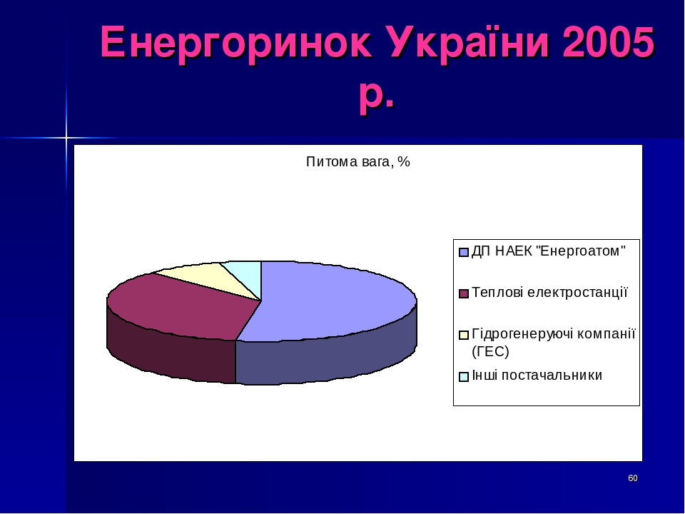 * Енергоринок України 2005 р.