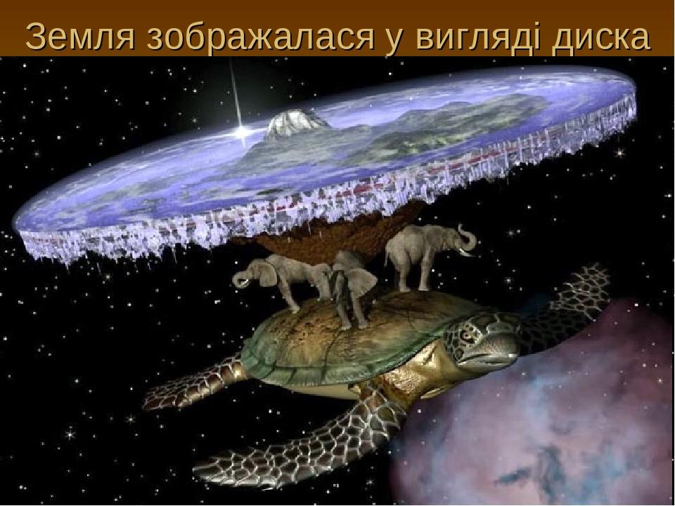 Земля зображалася у вигляді диска