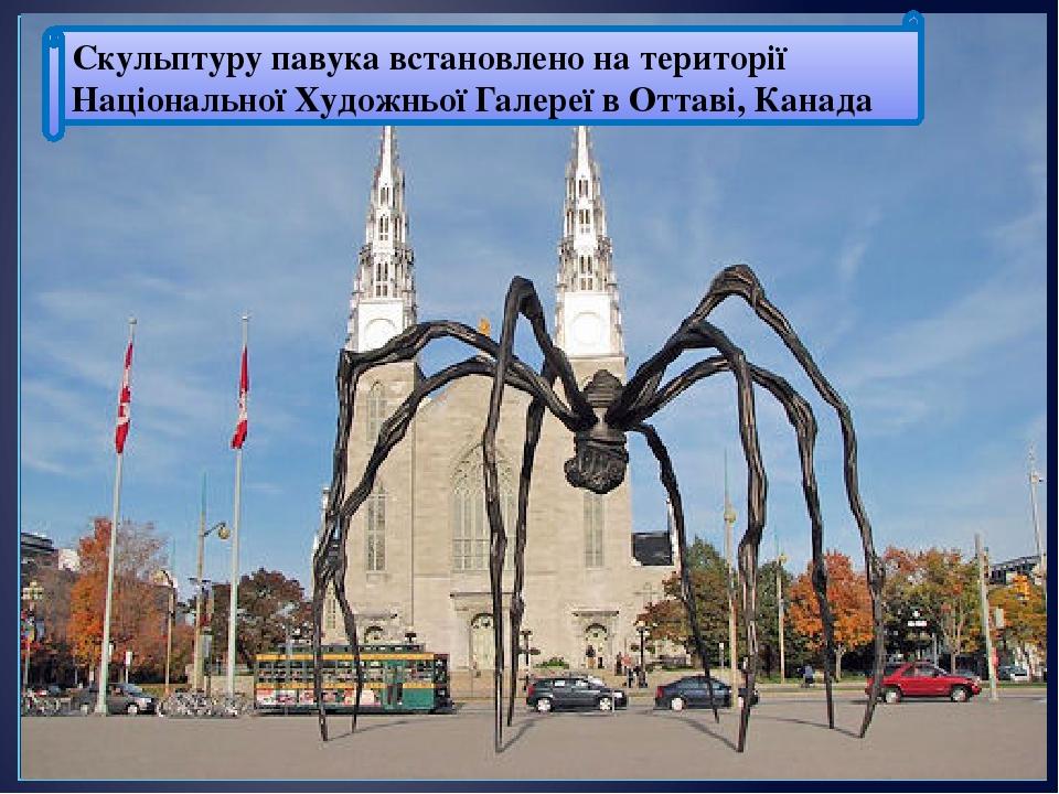 Скульптуру павукавстановлено на території Національної Художньої Галереї в Оттаві, Канада
