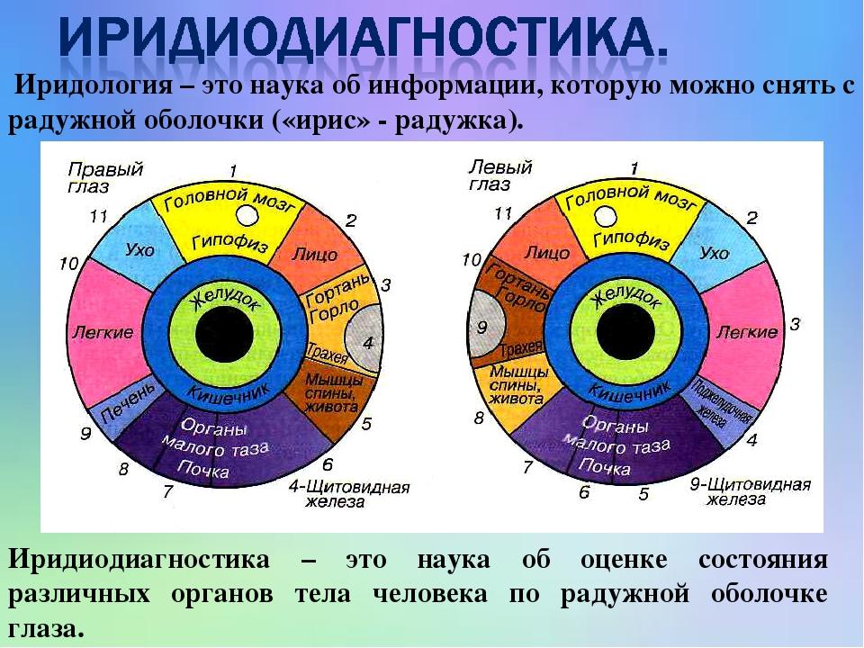 Иридиодиагностика – это наука об оценке состояния различных органов тела человека по радужной оболочке глаза. Иридология – это наука об информации,...