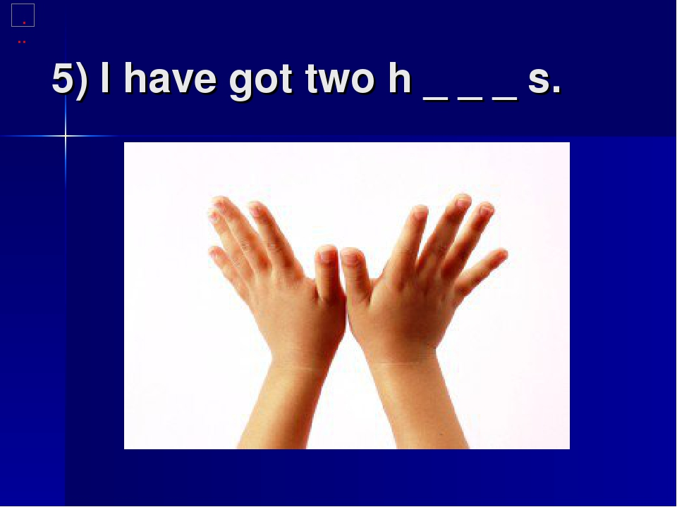 5) I have got two h _ _ _ s.