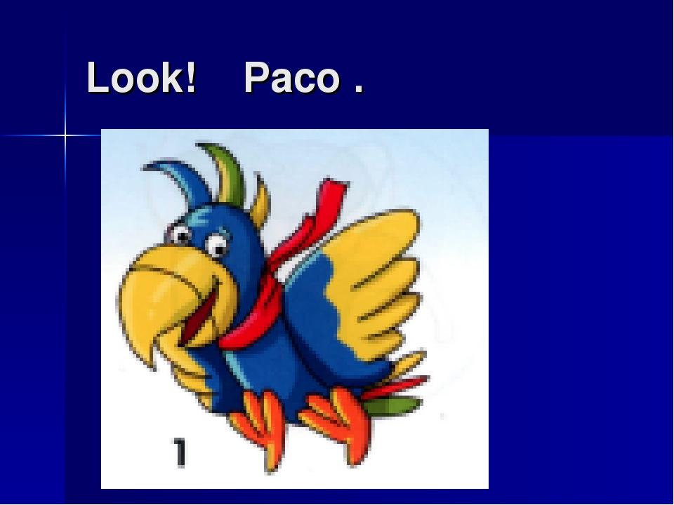 Look! Paco .