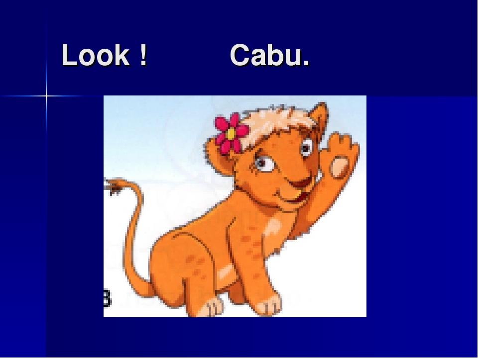 Look ! Cabu.