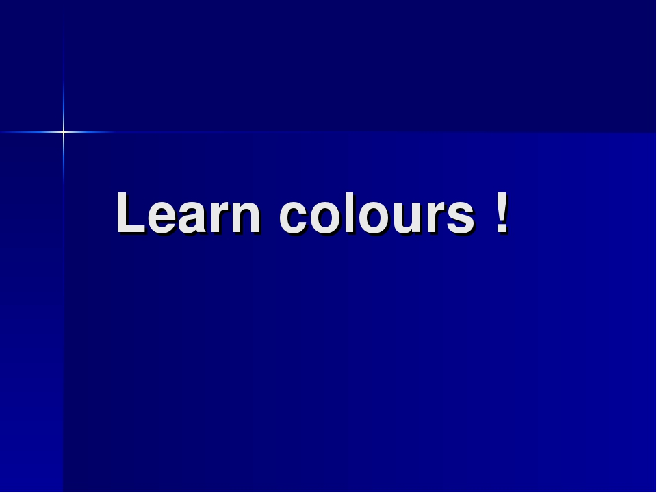 Learn colours !