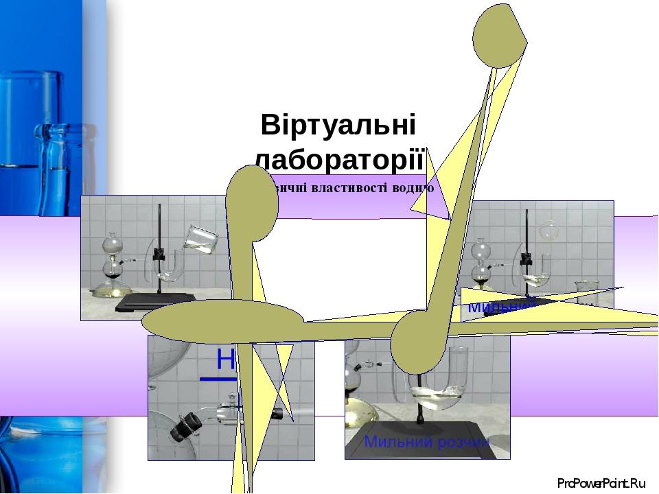 Віртуальні лабораторії Фізичні властивості водню ProPowerPoint.Ru