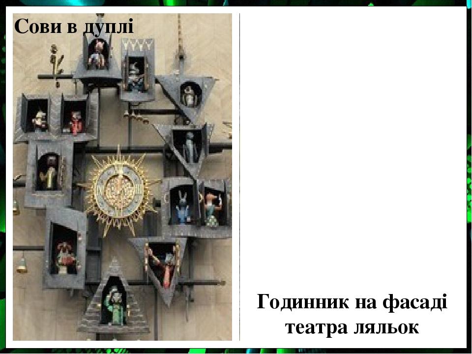 Сови в дуплі Годинник на фасаді театра ляльок