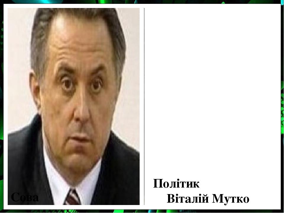 Сова Політик Віталій Мутко