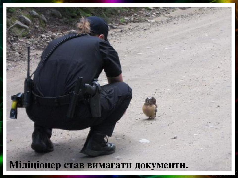 Міліціонер став вимагати документи.
