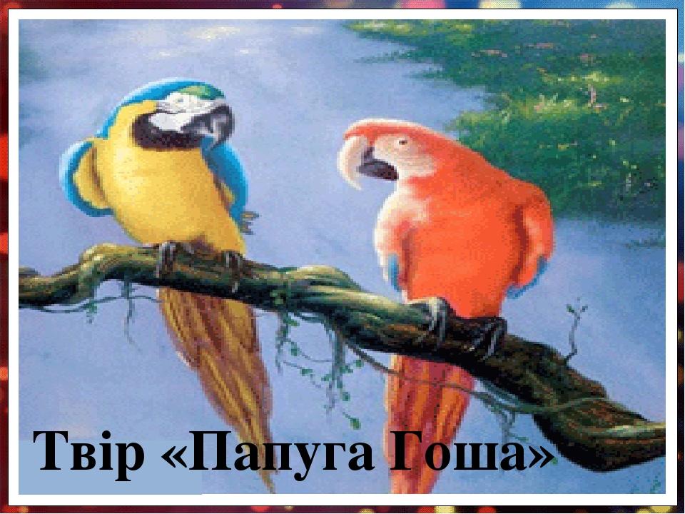 Твір «Папуга Гоша»