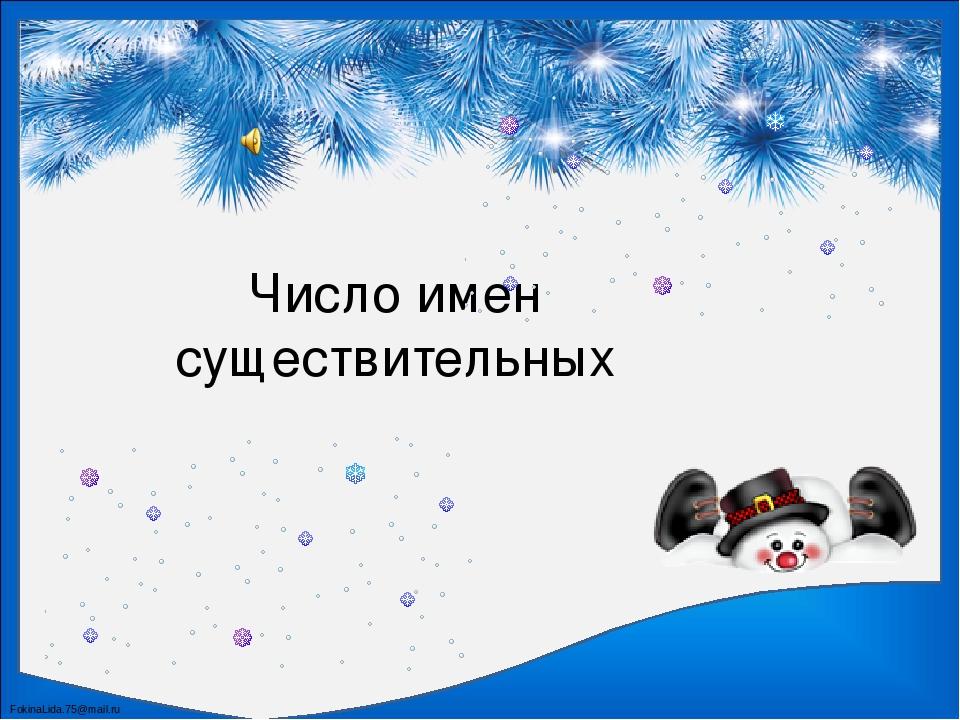 Число имен существительных FokinaLida.75@mail.ru