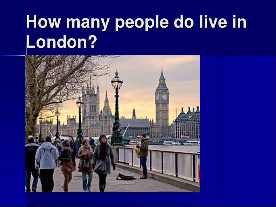 How many people do live in London?