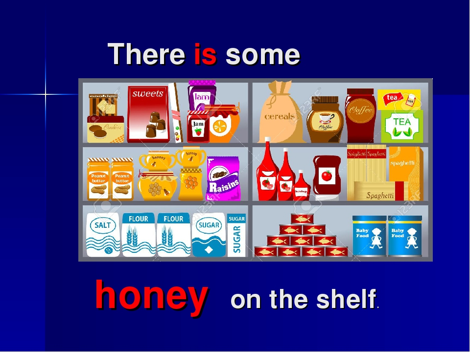 There is some honey on the shelf.