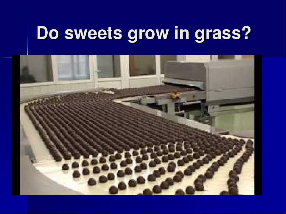 Do sweets grow in grass?