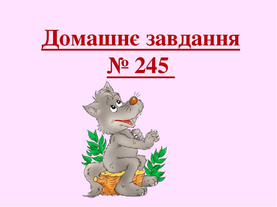 Домашнє завдання № 245