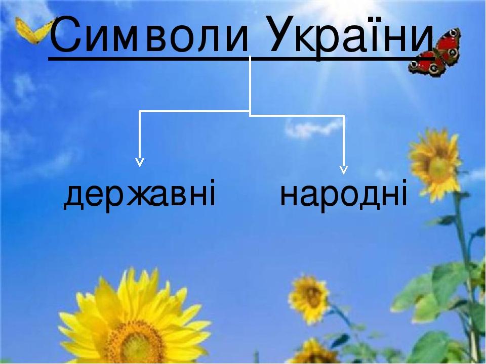 Символи України державні народні