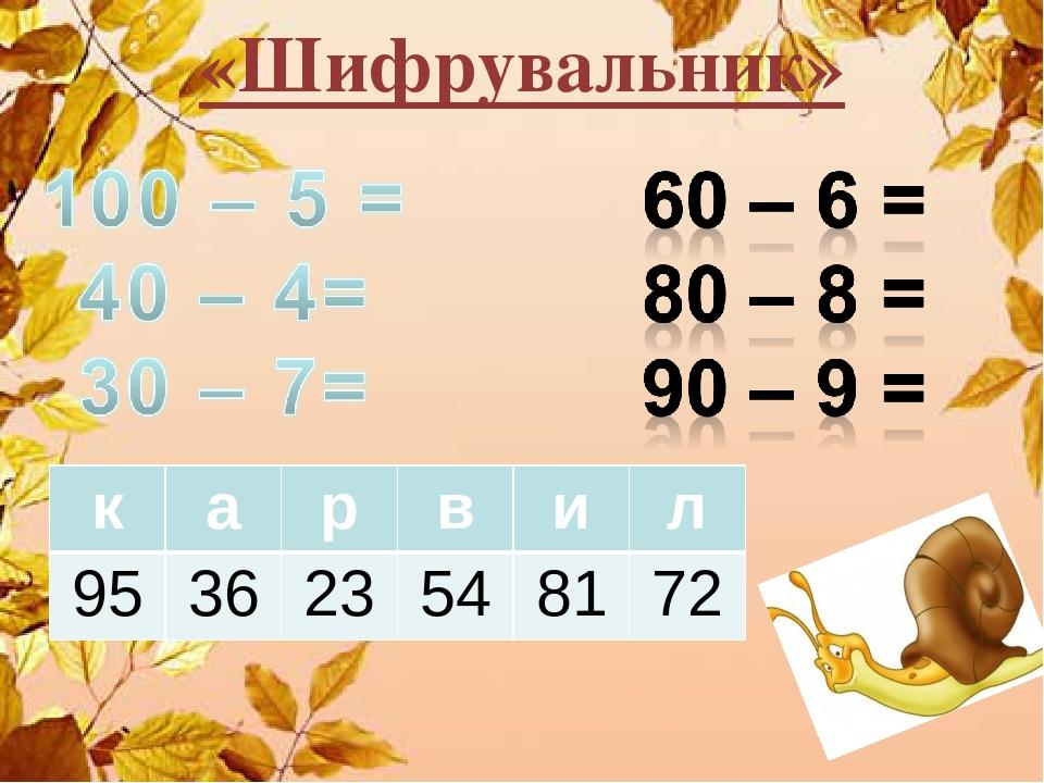 «Шифрувальник» к а р в и л 95 36 23 54 81 72