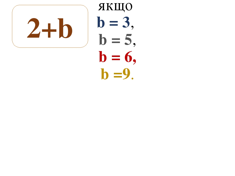Завдання № 156 якщо b = 3, b = 5, b = 6, b =9. 2+b