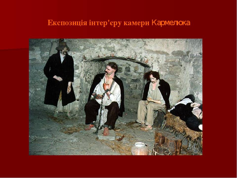Експозиція інтер'єру камери Кармелюка