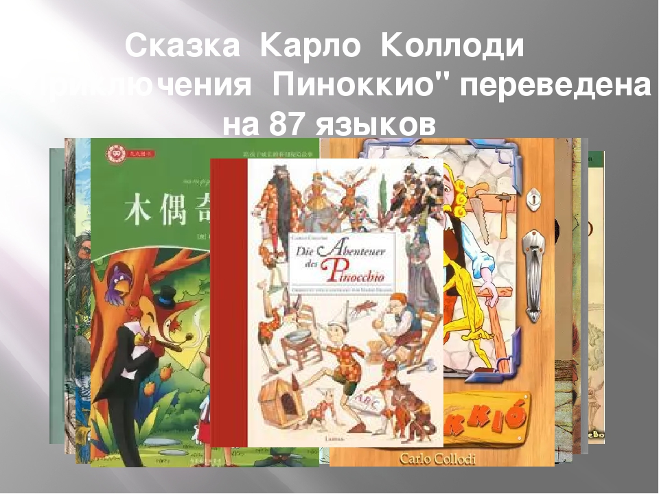 """Сказка Карло Коллоди """"Приключения Пиноккио"""" переведена на 87 языков"""