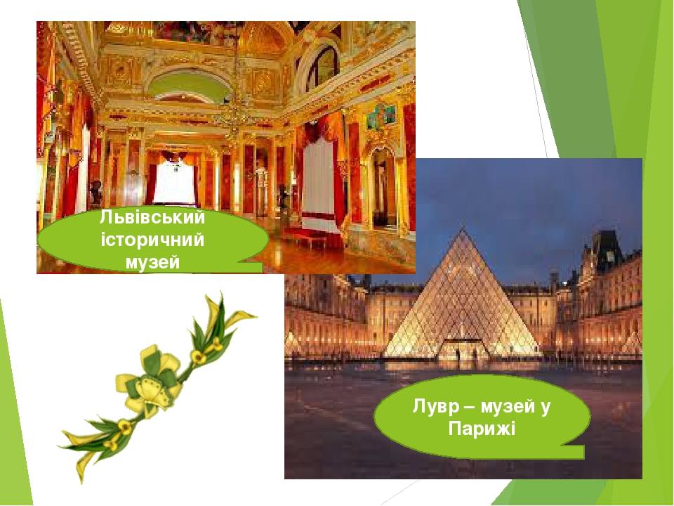 Львівський історичний музей Лувр – музей у Парижі