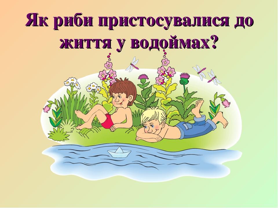 Як риби пристосувалися до життя у водоймах?