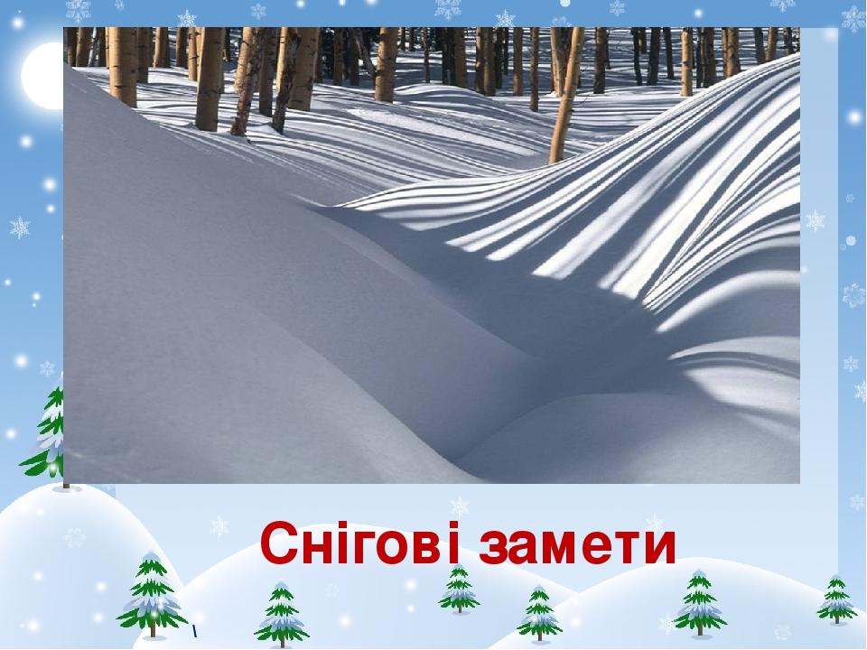 Снігові замети \
